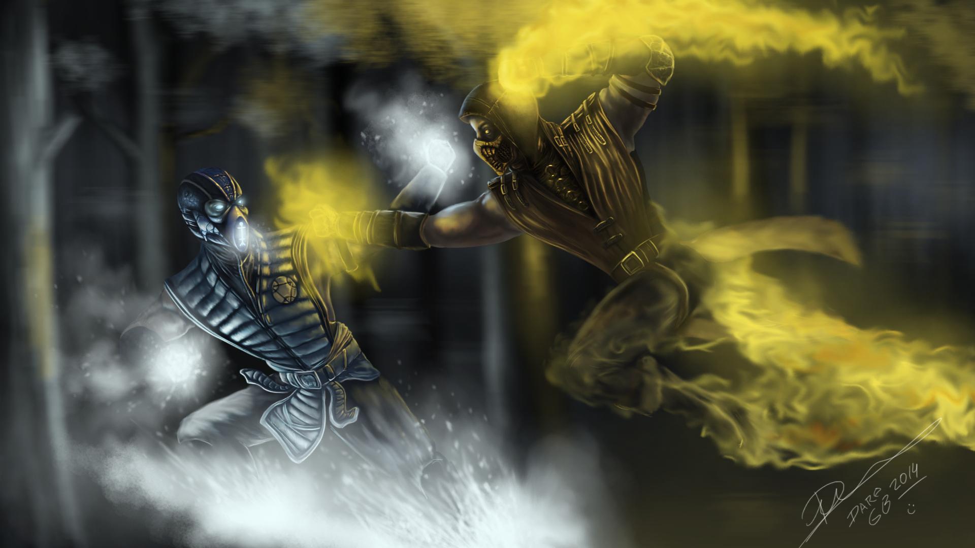 Mortal Kombat X Scorpion Vs Sub Zero By Daregb On Deviantart