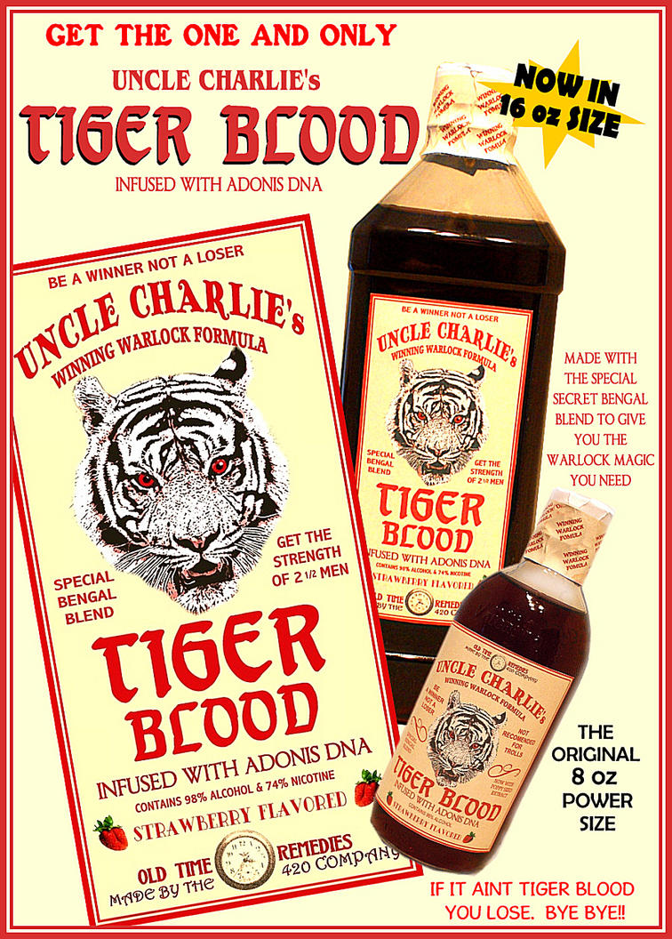 Uncle Charlie's TIGER BLOOD by RadActPhoto
