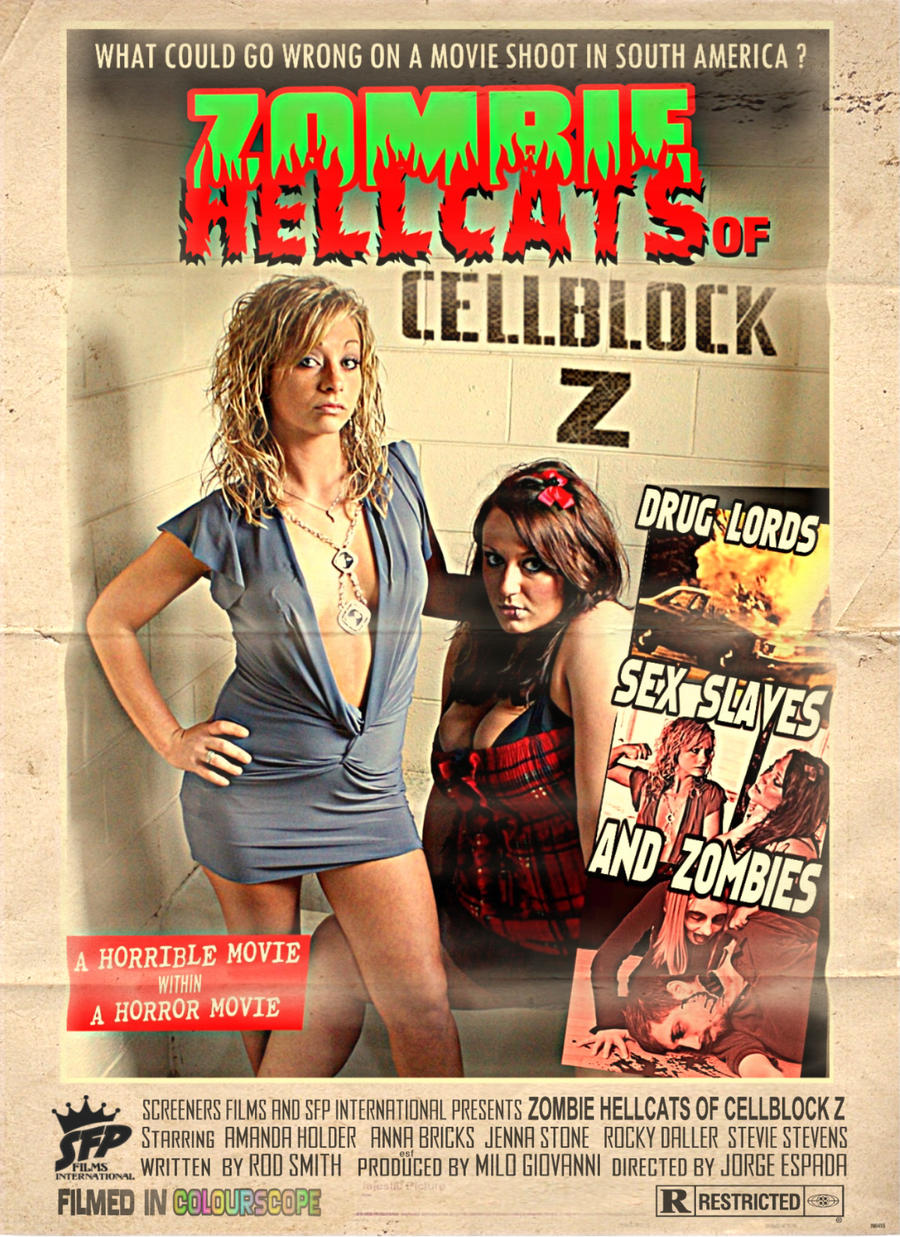 ZOMBIE HELLCATS of CELLBLOCK Z poster by RadActPhoto