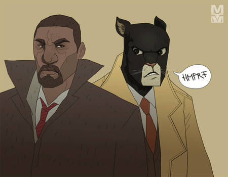 Luther and Blacksad