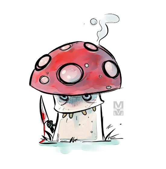 Evil Mushroom by MekareMadness