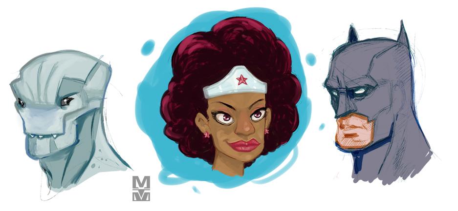Heads 1 by MekareMadness