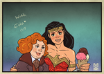 WonderWoman Etta Candy and an icecream