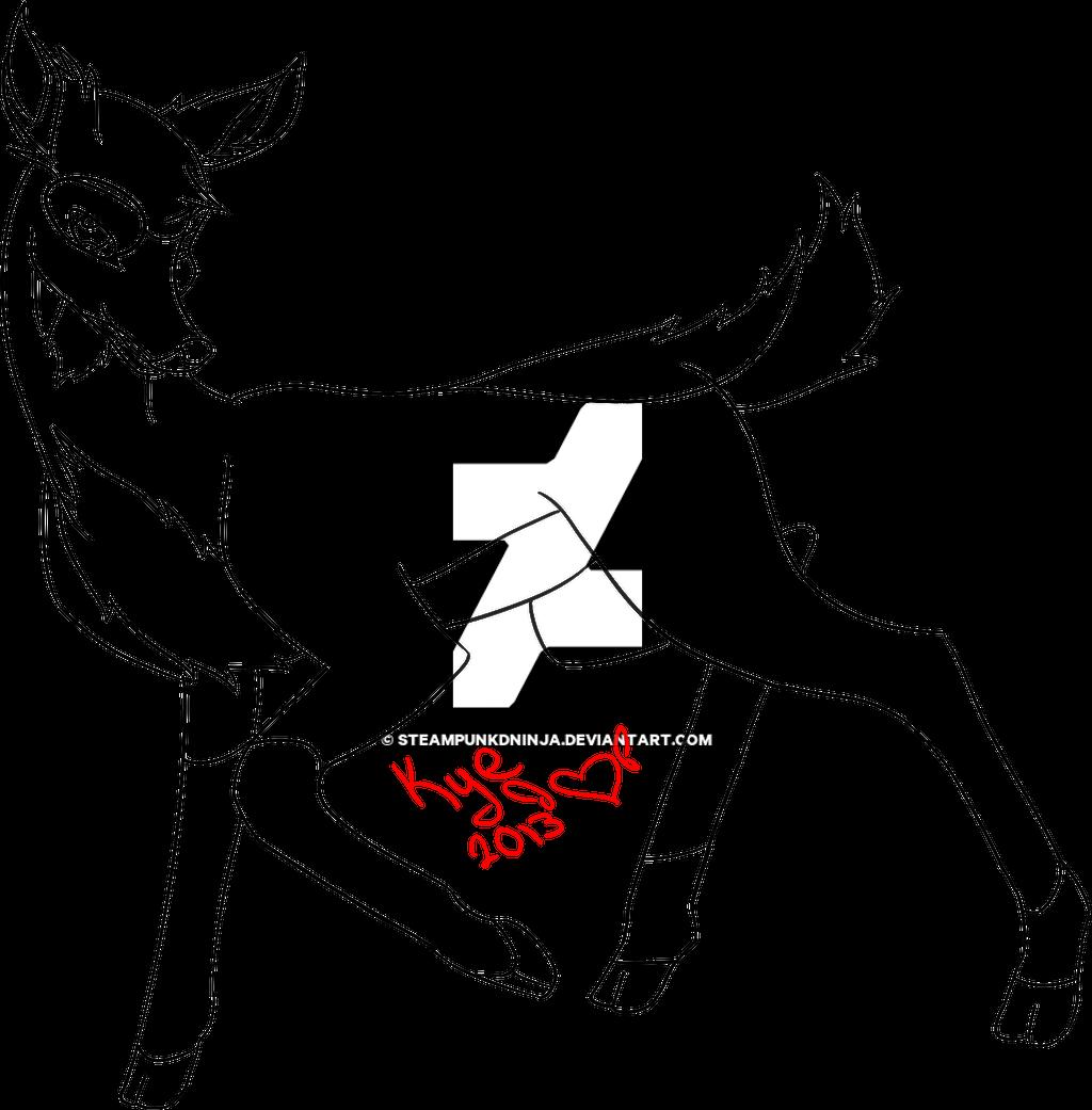Line Art Deer : Deer lineart by steampunkdninja on deviantart