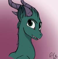 Kaylie Dragon form by HeartArtShine