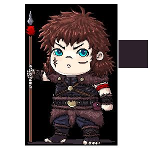 Elessar Shanks Pixel Art 1 ( Original Character ) by BartonDH