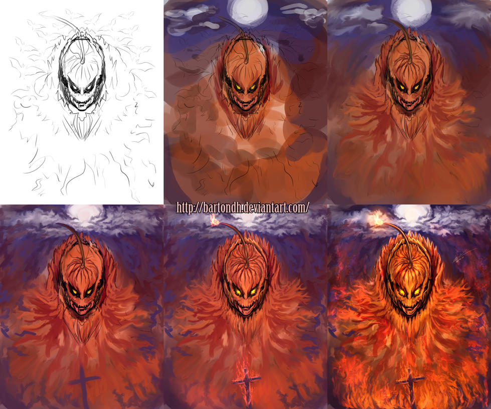 Pumpkin Knight The Beggining Step by Step by BartonDH