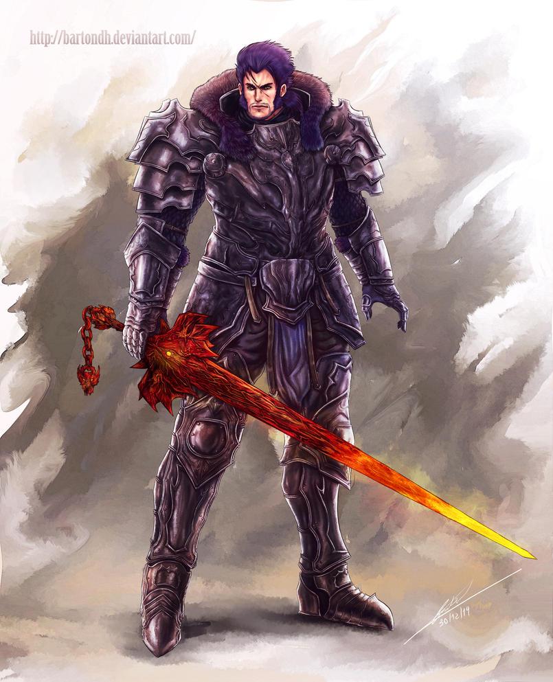 Knight illustration ( Original Character ) by BartonDH