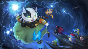 Mewbie Goddess of Thunder Vs Dragon Party by BartonDH
