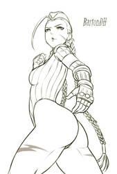 Cammy Zero Costume Sketch by BartonDH