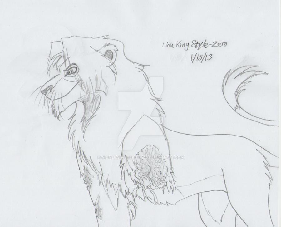 Lion King Style - Zero (WIP) by AnimeFan4Eternity23