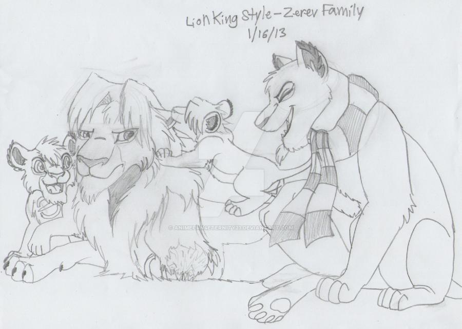 Lion King Style - Zerev Family (WIP) by AnimeFan4Eternity23