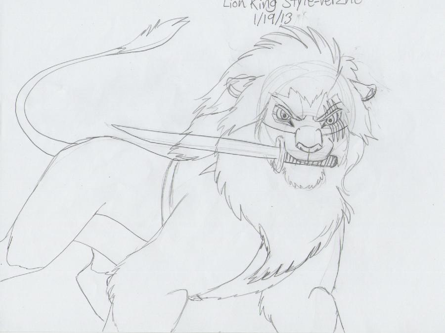 Lion King Style - Verzne (WIP) by AnimeFan4Eternity23
