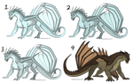 WoF Adopts Set 1 - Three IceWings and a MudWing