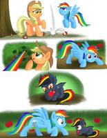 Egad!  A Bat Pony in my Apple Tree! by RoyalRainbow51