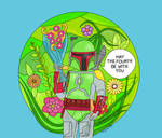 Boba Fett Star Wars Day Card!