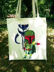 Hand painted Boba Fett bag by MahiyanaCarudla