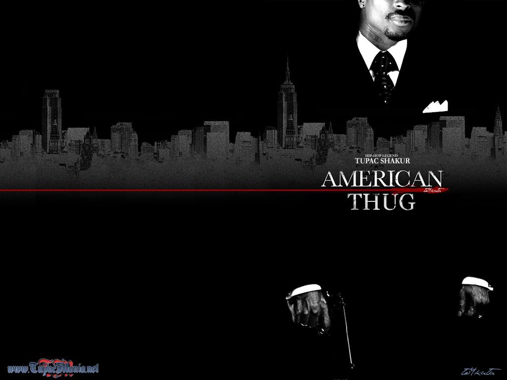 2pac Thug Life Wallpaper 2pac American Thug Wallpaper