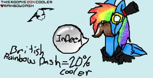 british rainbow dash...