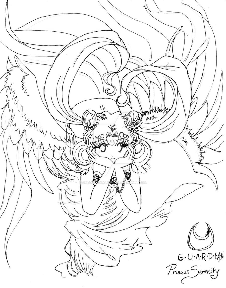 Princess Serenity Coloring Pages : Neo queen serenity coloring pages