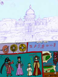 12 Kingdoms - Red Celestial Empire Kinmoku Sheet 1 by JATGProductions