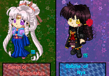 12 Kingdoms - Serene and Sabine by JATGProductions