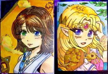 Yuna and Princess Zelda