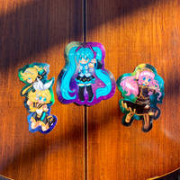 3 inch Vinyl and Holo Vocaloid Stickers