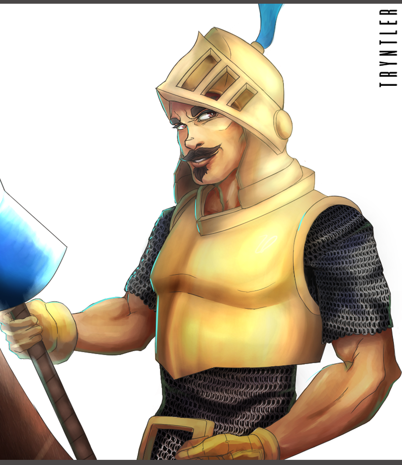 how to draw a clash royale prince