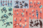 Monkey Wrench Character concepts