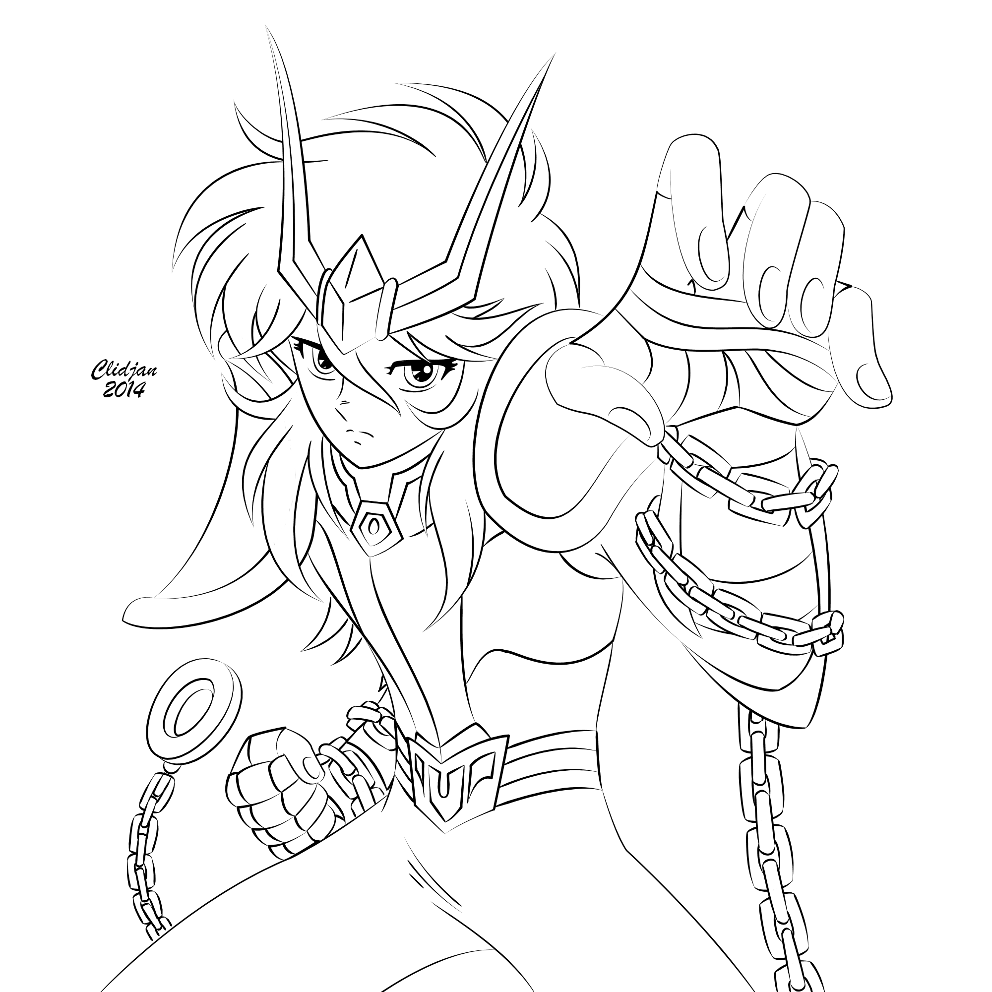 Andromeda Shun Lineart V2 By Clidjan On Deviantart