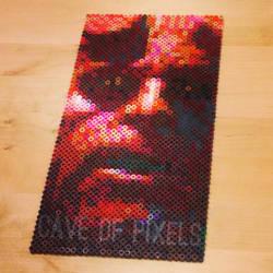 Hellboy pixel bead portrait by caveofpixels