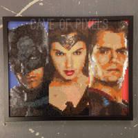 Batman V Superman pixel bead portraits