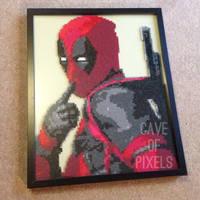 Deadpool pixel bead art