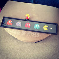 Pac-Man long pixel bead art