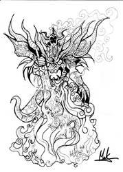 Dragon Zodiac Black and White