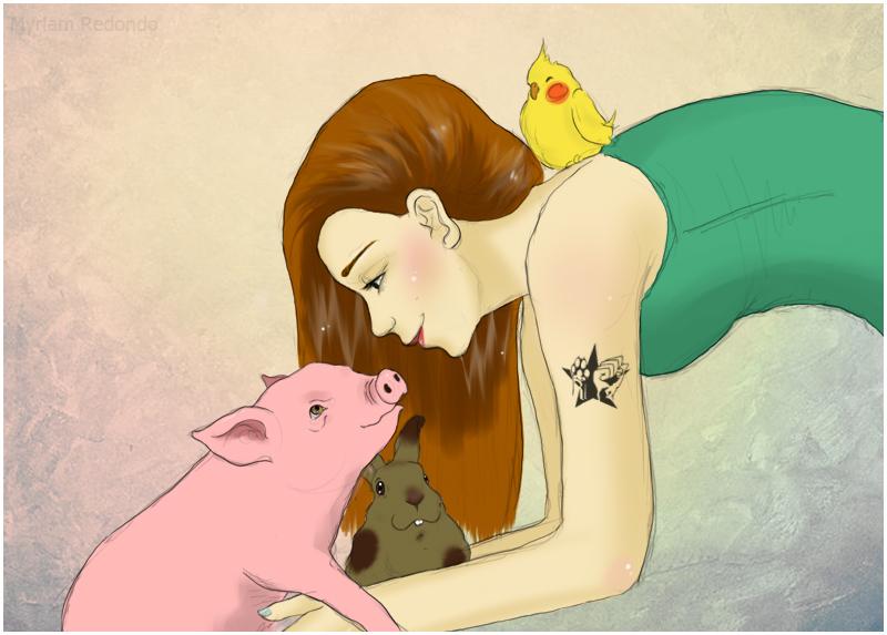 Ilustracion para Mireia Gimeno 2 by MyMimicat