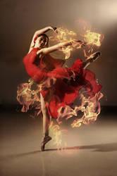 flame dance by robinpika
