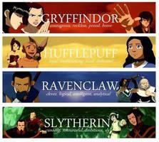 Avatar - Hogwarts Houses by DXvsNWO1994