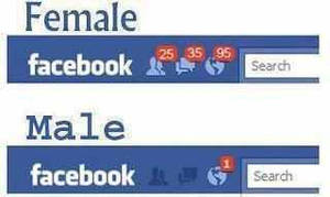 Facebook Updates......Male vs. Female by DXvsNWO1994