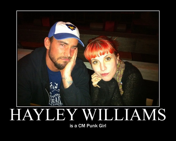 Hayley Williams is a CM Punk Girl by DXvsNWO1994