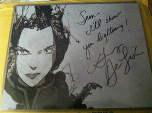 Signed Azula Photo by Grey Delisle