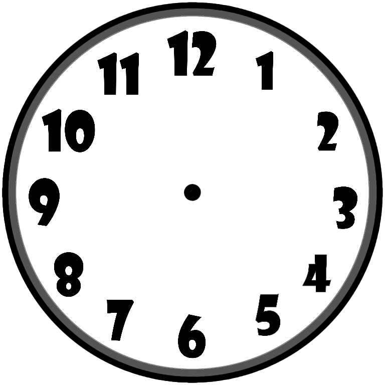 The clock's face