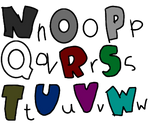 Lowercase n Capital letters part 2 N - W