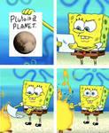 SpongeBob burning paper meme.