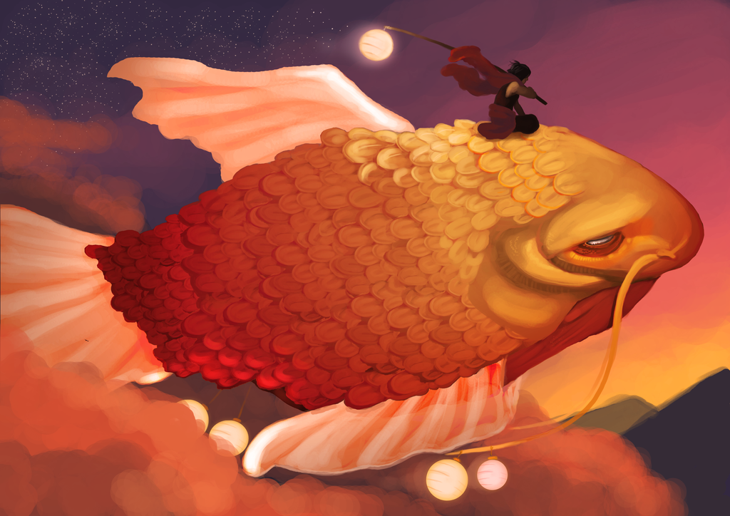 Live in a world of flying fish by eris e on deviantart for Where do flying fish live