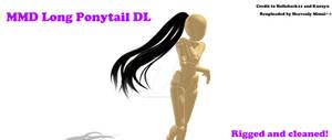 MMD- Long Ponytail DL [Reuploaded]