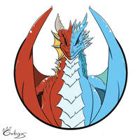 Fire and ice by Garlegas