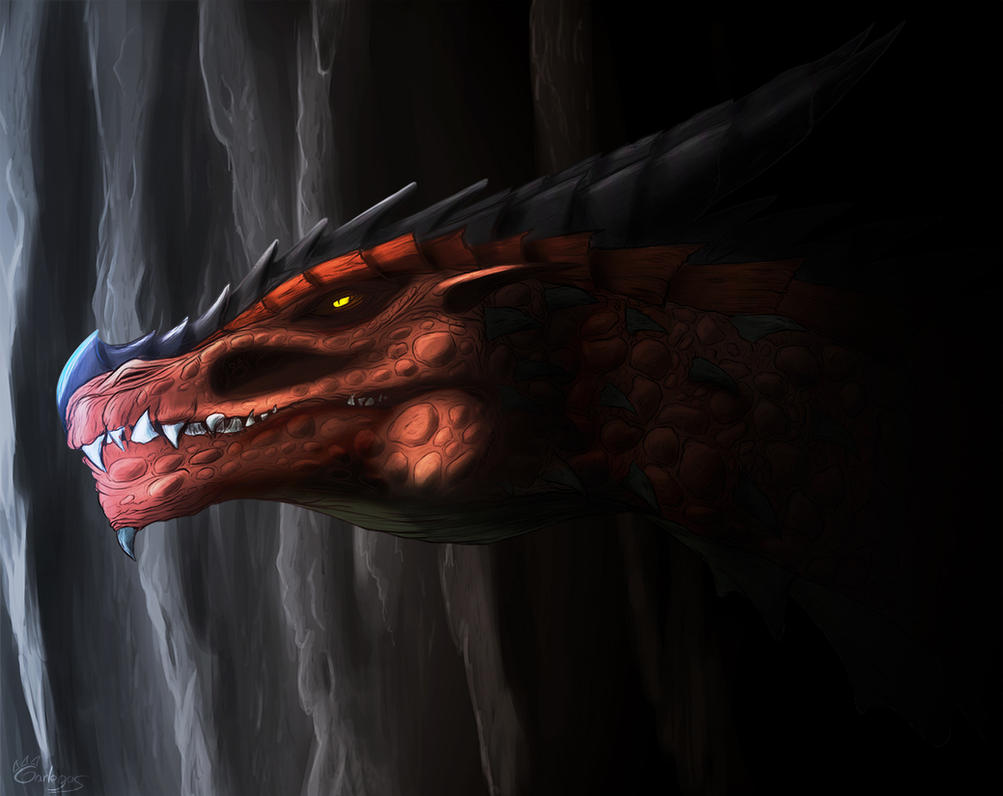 Detailed dragon - color version by Garlegas