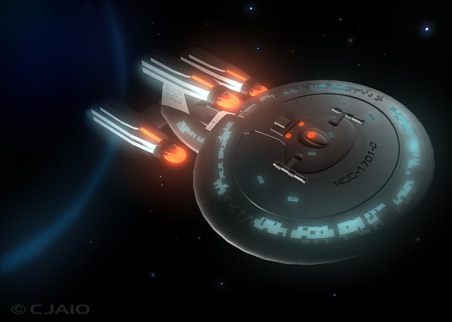 Star Trek Enterprise D By ScrawnySquall